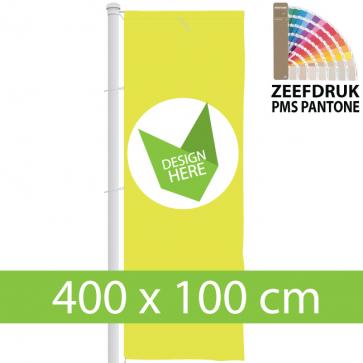 Banier 400 x 100 cm zeefdruk bestellen