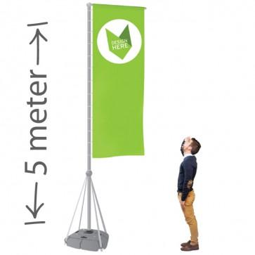 Mobiele vlaggenmast 5 meter