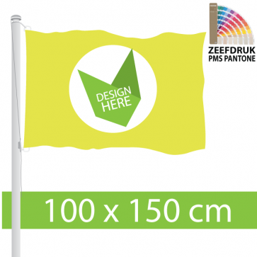 Goedkope Zeefdruk Vlag 100 x 150 cm - Ontwerp & Bestel.
