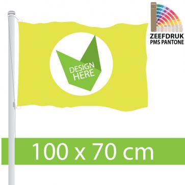 Zeefdruk 100 x 70 cm Vlaggen Bedrukken met eigen Logo?
