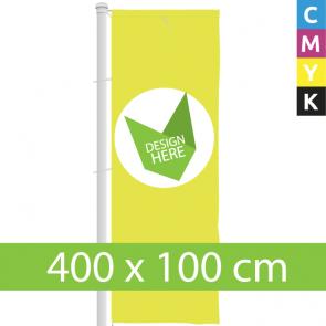 Banier Vlag 400 x 100 cm bedrukken - Nergens goedkoper!