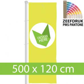 Banier vlaggen 500 x 120 cm zeefdruk voor vlaggenmast