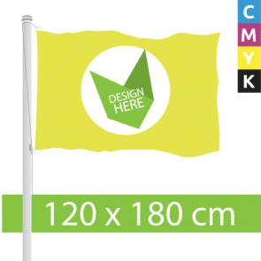 120 x 180 cm Vlaggen met eigen opdruk. Bereken en bestel!
