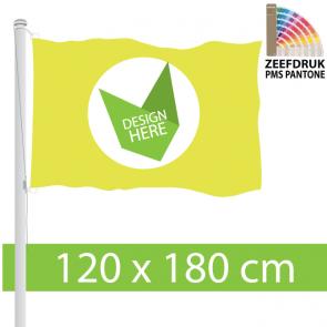 Zeefdruk 120 x 180 cm Vlag - 100% Doordruk & Kleurechtheid