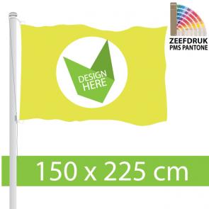 150 x 225 cm Zeefdruk Vlag. Laagste Prijs van Nederland.