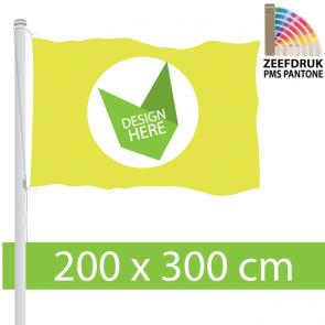 Vlag 200 x 300 cm Zeefdruk 100% Doordruk & Kleurechtheid