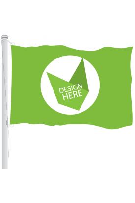 Vlag 100 x 150 cm voor vlaggenmast bedrukken full colour logo of ontwerp