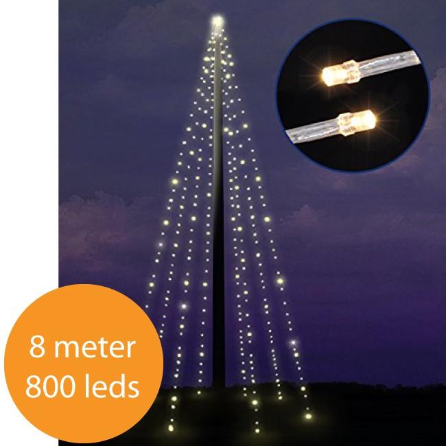 Kerstverlichting voor vlaggenmast 8 meter ACTIE!