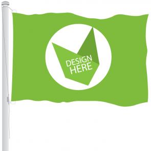 120 x 180 cm rechte klassieke vlag bedrukken met full colour logo of ontwerp