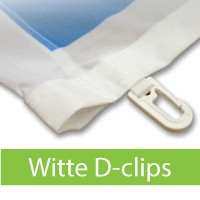 Witte D-clips