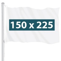 Vlag 150 x 225 cm - +€35,00 (+€42,35 Incl. BTW)