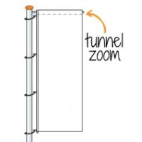 Tunnel boven plat 6 cm
