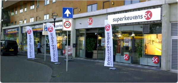 Superkeukens beachflags