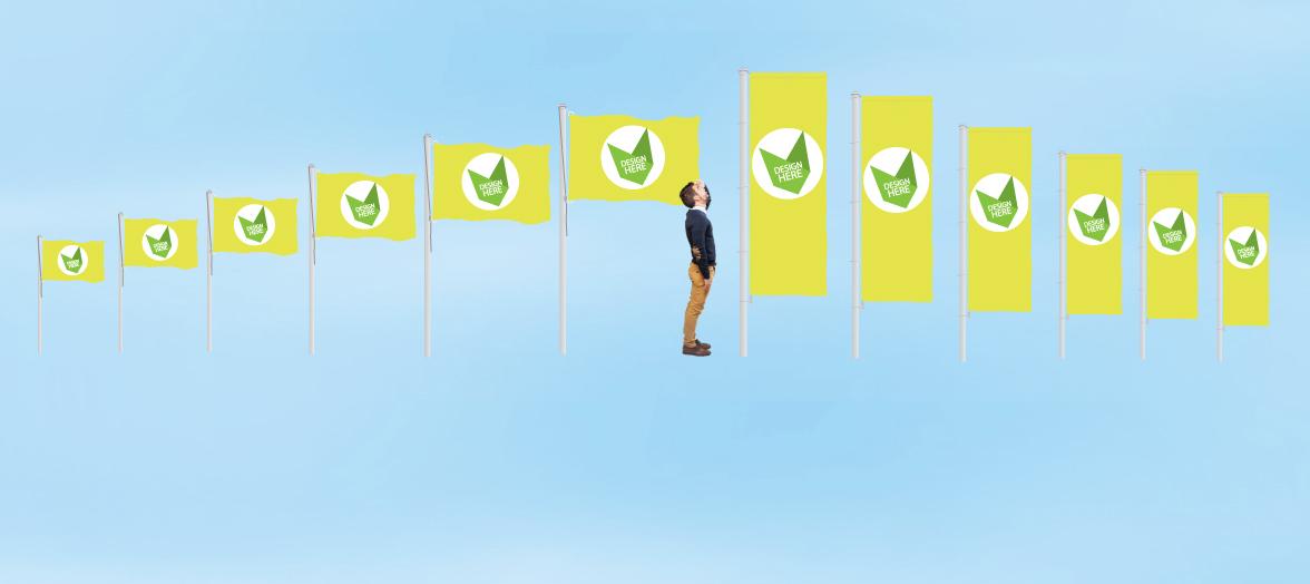 Goedkope Vlaggen bedrukken of Banieren bedrukken met logo of ontwerp