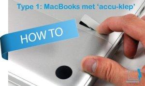 Een MacBook accu vervangen met accu klep