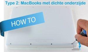 Een MacBook accu vervangen met dichte onderzijde