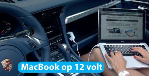 macbook opladen in de auto. Black Bedroom Furniture Sets. Home Design Ideas