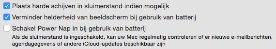 Energiestand macbook accu batterij